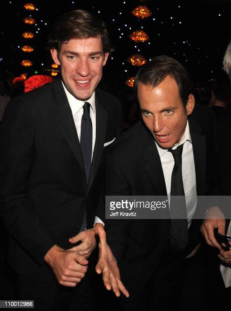 Actors John Krasinski and Will Arnett attend the 60th Primetime Emmy Awards Governor's Ball at the Nokia Theater on September 21 2008 in Los Angeles...