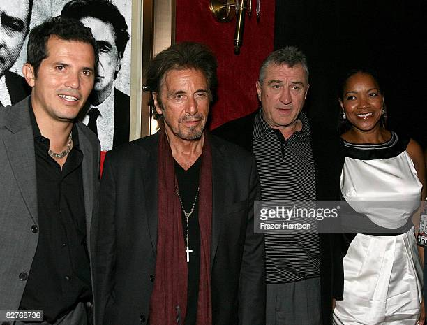 Actors John Leguizamo Al Pacino Robert De Niro and his wife Grace Hightower attends The Righteous Kill premiere at the The Ziegfeld on September 10...