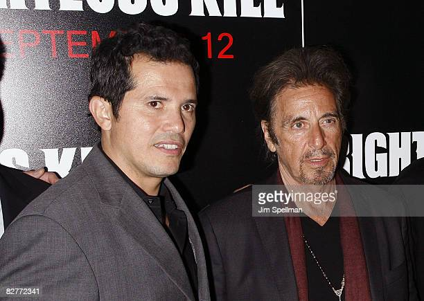 Actors John Leguizamo and Al Pacino attend the New York premiere of 'Righteous Kill' at the Ziegfeld Theater on September 10 2008 in New York City