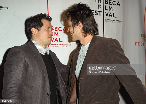 Actors John Leguizamo and Aldemar Correa attend the premiere of Paraiso Travel during the 2008 Tribeca Film Festival on April 26 2008 in New York City