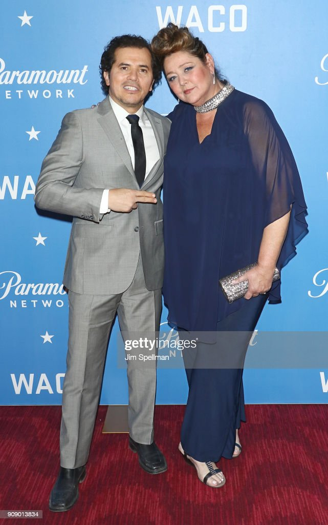 Actors John Leguizamo and Camryn Manheim attend the 'Waco' world premiere at Jazz at Lincoln Center on January 22, 2018 in New York City.