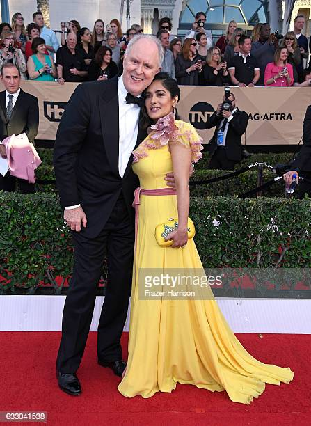 Actors John Lithgow and Salma Hayek attend The 23rd Annual Screen Actors Guild Awards at The Shrine Auditorium on January 29, 2017 in Los Angeles,...