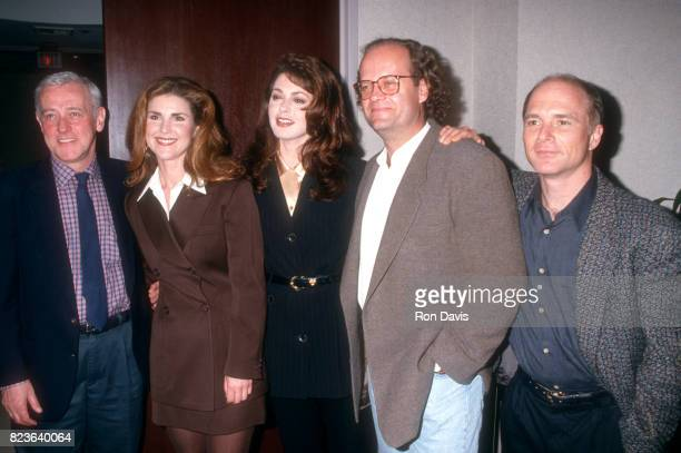 Actors John Mahoney Peri Gilpin Jane Leeves Kelsey Grammer and Dan Butler attend the Museum of Television FestivalAn Evening With 'Frasier' on March...