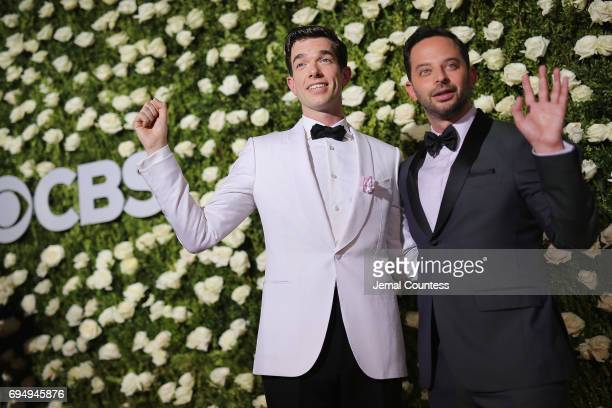 Actors John Mulaney and Nick Kroll attend the 2017 Tony Awards at Radio City Music Hall on June 11 2017 in New York City