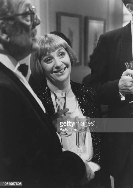 Actors John Nettleton and Victoria Wood in a scene from the episode 'Staying In' of the comedy series 'Victoria Wood' October 1st 1989