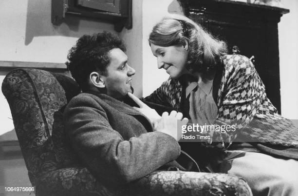 Actors John Nightingale and Madelaine Newton in a scene from episode 'A Ticket to Care for the Wounded' of the television series 'When The Boat Comes...