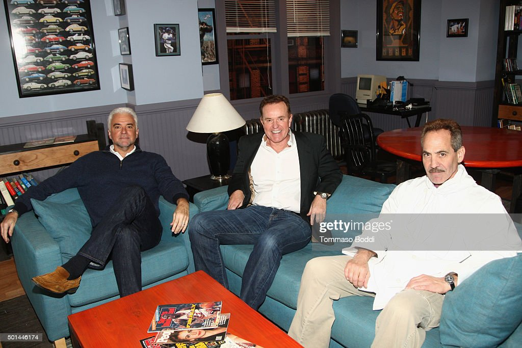 Actors John O'Hurley, Steve Hytner and Larry Thomas attend Seinfeld: The Apartment Fan Experience on December 15, 2015 in Los Angeles, California.
