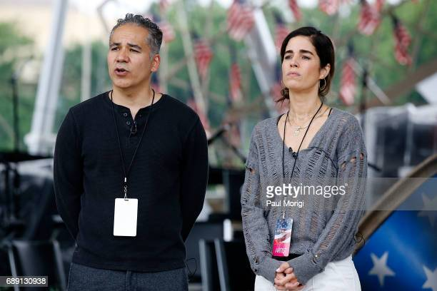 Actors John Ortiz from Kong Skull Island and Ana Ortiz from Ugly Betty rehearse for PBS' 2017 National Memorial Day Concert at US Capitol West Lawn...