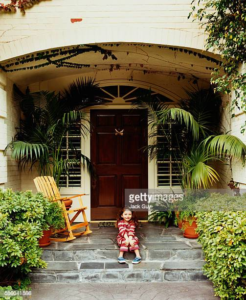 Actors John Ritter and Amy Yasbeck's daughter Stella Ritter is photographed for InStyle Magazine in 2003 at home in Los Angeles California PUBLISHED...