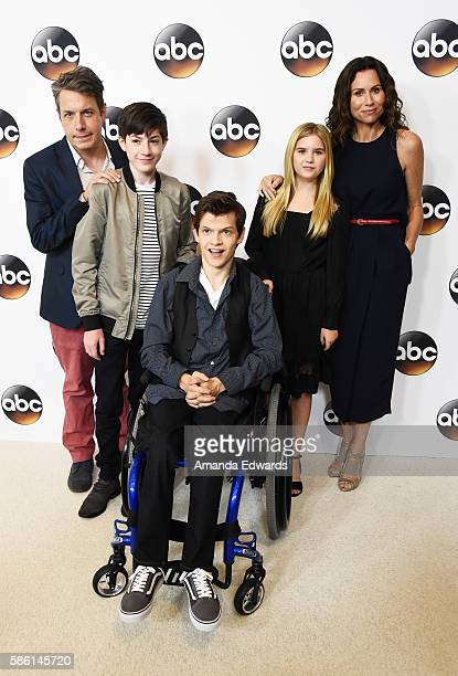 Actors John Ross Bowie Mason Cook Micah Fowler Kyla Kenedy and Minnie Driver attend the Disney ABC Television Group TCA Summer Press Tour on August 4...