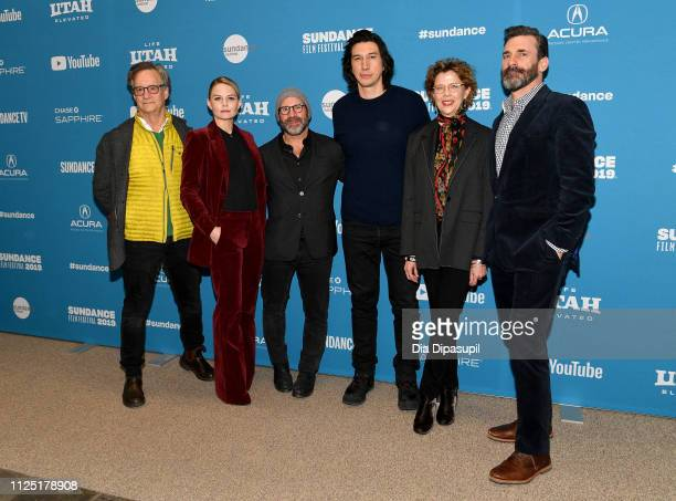 Actors John Rothman Jennifer Morrison director Scott Z Burns actors Adam Driver Annette Bening and Jon Hamm attend the The Report Premiere during the...