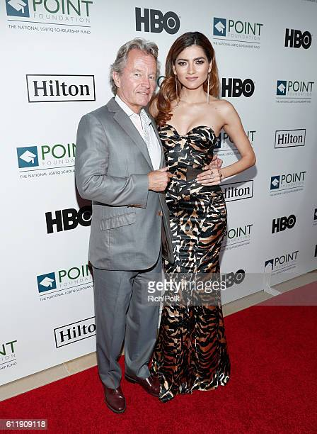 Actors John Savage and Blanca Blanco arrive at Point Foundation's Point Honors gala at The Beverly Hilton Hotel on October 1 2016 in Beverly Hills...