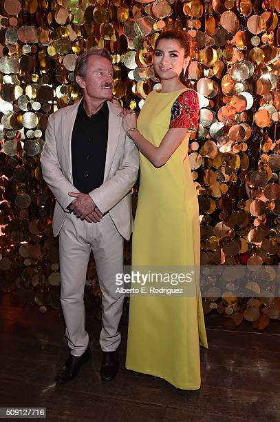 Actors John Savage and Blanca Blanco attend The Hollywood Reporter's 4th Annual Nominees Night at Spago on February 8 2016 in Beverly Hills California