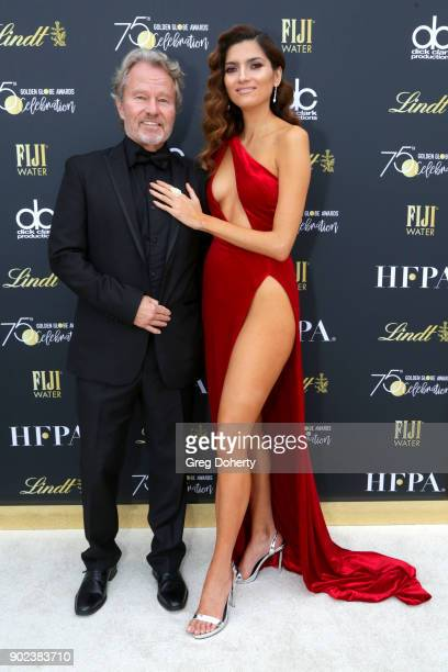 Actors John Savage and Blanca Blanco attend the Official Viewing and After Party of The Golden Globe Awards bosted by The Hollywood Foreign Press...