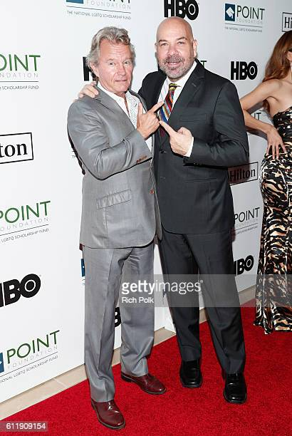 Actors John Savage and Jason Stuart arrive at Point Foundation's Point Honors gala at The Beverly Hilton Hotel on October 1 2016 in Beverly Hills...