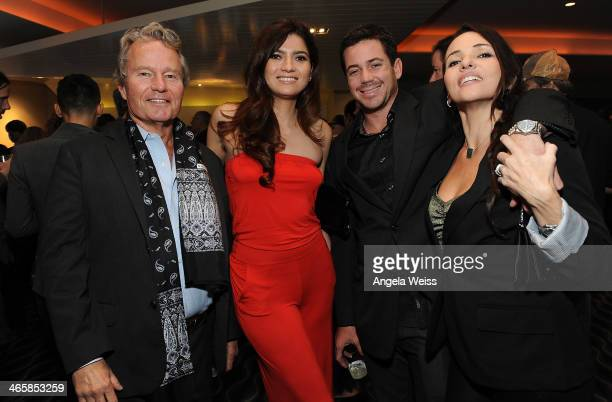 Actors John Savage Blanca Blanco Isabel Echeverry and Julian Unruh attend the premiere of Sony Pictures Classics' Tim's Vermeer at Pacific Design...