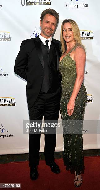 Actors John Schneider and Elly Castle attend the 5th Annual Unstoppable Gala at the Hyatt Regency Century Plaza Hotel on March 15 2014 in Century...