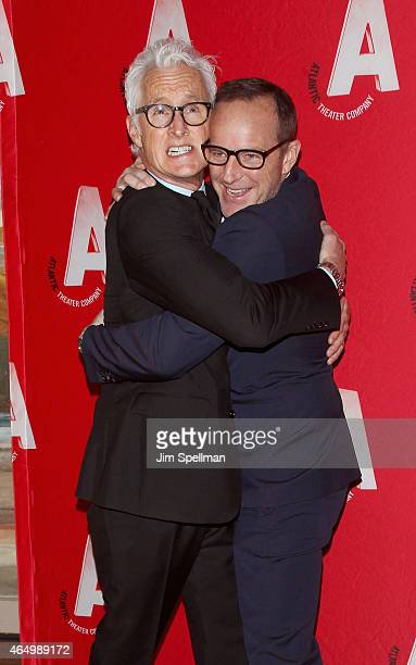 Actors John Slattery and Clark Gregg attend the Atlantic Theater Company 30th Anniversary gala at The Pierre Hotel on March 2, 2015 in New York City.