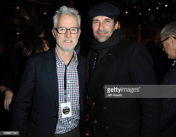 Actors John Slattery and Jon Hamm attend the COMEDY CENTRAL Roast of Donald Trump at the Hammerstein Ballroom on March 9 2011 in New York City