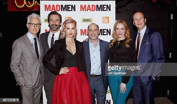Actors John Slattery Jon Hamm January Jones writer/director/ producer Matthew Weiner Christina Hendricks and AMC president and general manager...
