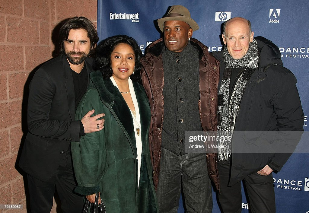 Actors John Stamos, Phylicia Rashad, director Kenny Leon, and producer Neil Meron arrive at the premiere of 'A Raisin in the Sun' held at the Eccles Theatre during the 2008 Sundance Film Festival on January 23, 2008 in Park City, Utah.