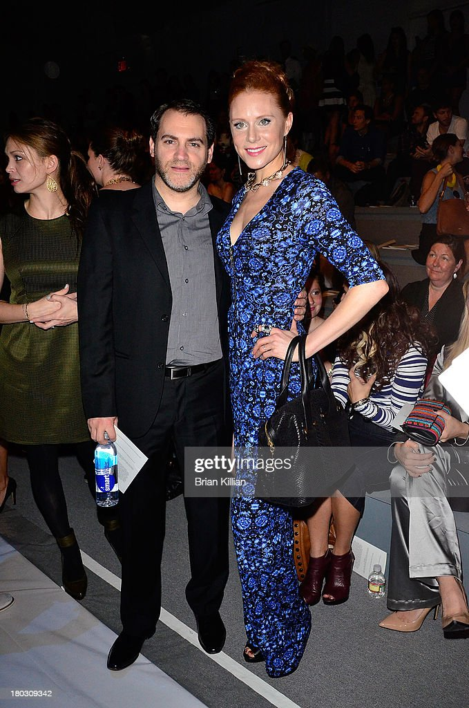 Actors John Stuhlbarg and Christiane Seidel attend the Nanette Lepore show during Spring 2014 Mercedes-Benz Fashion Week at The Stage at Lincoln Center on September 11, 2013 in New York City.