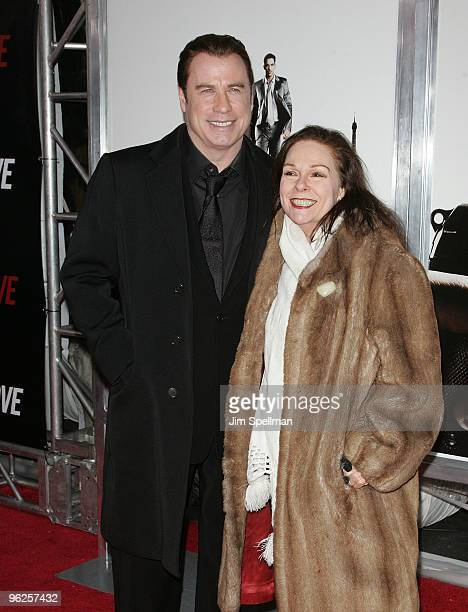 Actors John Travolta and Karen Lynn Gorney attend the From Paris With Love premiere at the Ziegfeld Theatre on January 28 2010 in New York City