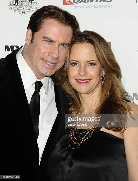Actors John Travolta and Kelly Preston attend the 2011 G'Day USA Los Angeles black tie gala at The Hollywood Palladium on January 22, 2011 in Los...