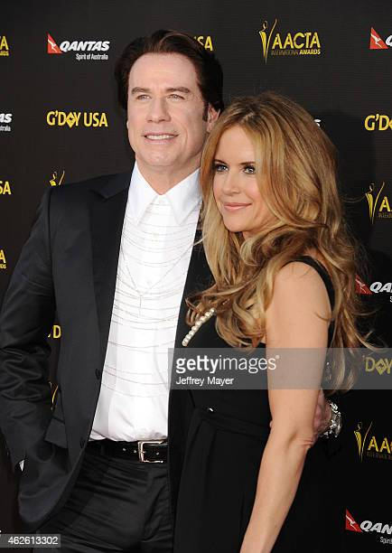 Actors John Travolta and Kelly Preston attend the 2015 G'Day USA Gala featuring the AACTA International Awards presented by Qantas at Hollywood...
