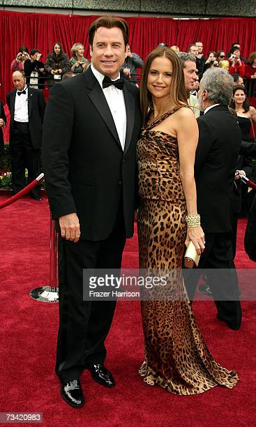 Actors John Travolta and Kelly Preston attend the 79th Annual Academy Awards held at the Kodak Theatre on February 25 2007 in Hollywood California