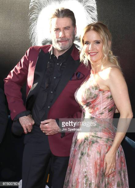 Actors John Travolta and Kelly Preston attend the Gotti New York premiere at SVA Theater on June 14 2018 in New York City