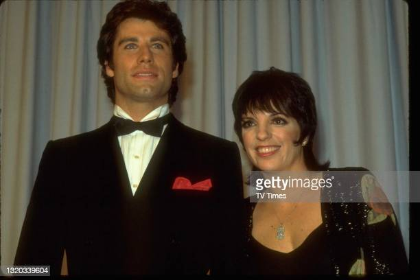 Actors John Travolta and Liza Minelli photographed at the 55th Academy Awards in Los Angeles, on April 11, 1983.