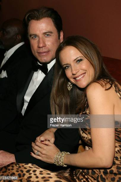 Actors John Travolta and wife Kelly Preston attend the Governor's Ball after the 79th Annual Academy Awards at The Highlands on February 25 2007 in...
