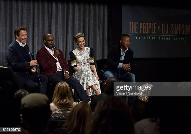 Actors John Travolta Courtney B Vance Sarah Paulson and Cuba Gooding Jr attend SAGAFTRA Foundation's Conversations with 'The People V OJ Simpson...