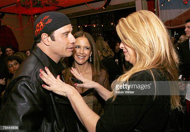 Actors John Travolta Kelly Preston and Kirstie Alley talk at the afterparty for the premiere of Touchstone Picture's 'Wild Hogs' at the Annex on...