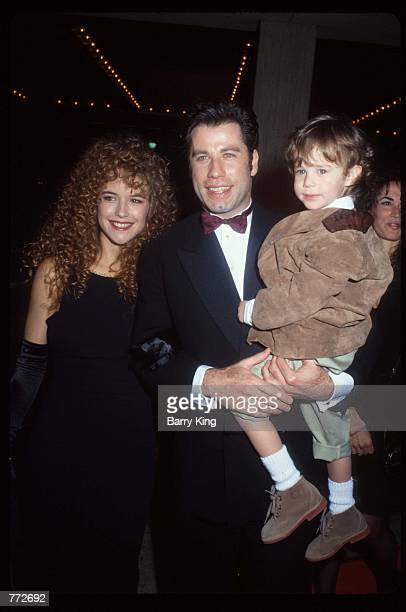Actors John Travolta Kelly Preston and Lorne Sussman attend the premiere of Look Who's Talking Too December 13 1990 in Los Angeles CA Travolta and...