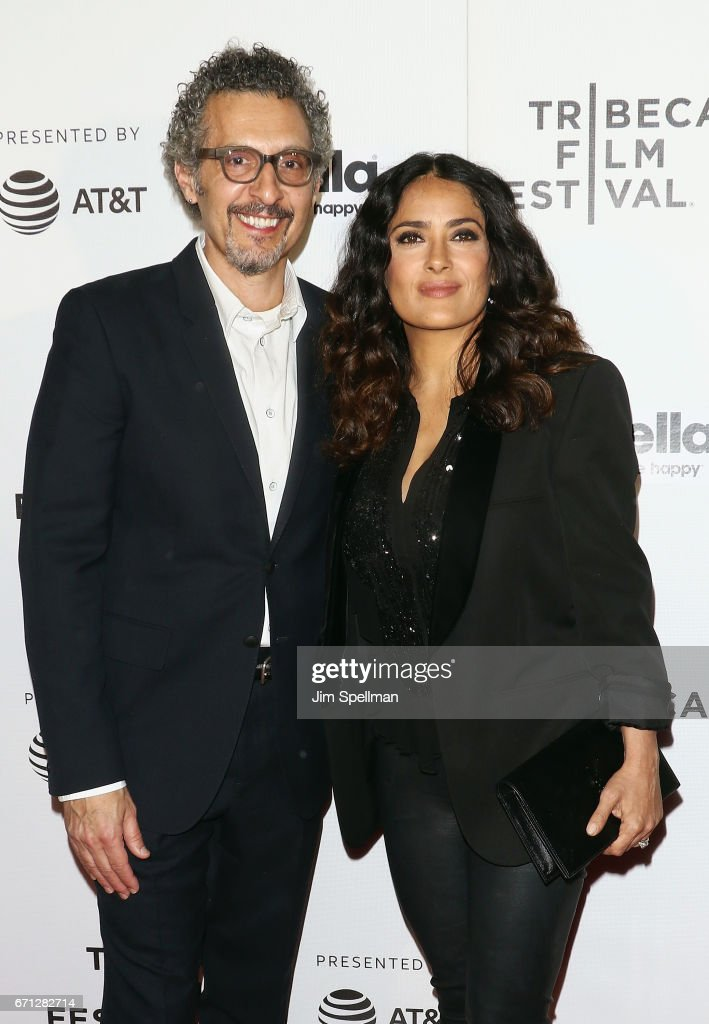 Actors John Turturro and Salma Hayek attend the Shorts Program: New York - Group Therapy during the 2017 Tribeca Film Festival at Regal Battery Park Cinemas on April 21, 2017 in New York City.