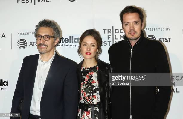 Actors John Turturro Rose Byrne and Marcus Wainwright of 'Hair' attend the Shorts Program New York Group Therapy during the 2017 Tribeca Film...