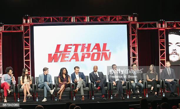 Actors Johnathan Fernandez Jordana Brewster Kevin Rahm Keesha Sharp Clayne Crawford Damon Wayons executive producer/writer Matt Miller executive...