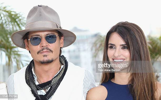 Actors Johnny Depp and Penelope Cruz attend the 'Pirates of the Caribbean On Stranger Tides' Photocall during the 64th Annual Cannes Film Festival at...