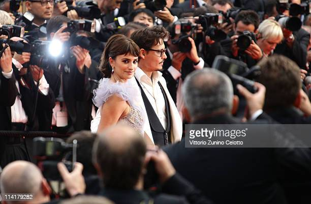 """Actors Johnny Depp and Penelope Cruz attend the """"Pirates of the Caribbean: On Stranger Tides"""" premiere at the Palais des Festivals during the 64th..."""