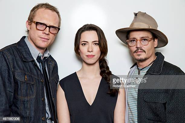 Actors Johnny Depp Paul Bettany Rebecca Hall are photographed for Los Angeles Times on April 5 2014 in Los Angeles California PUBLISHED IMAGE CREDIT...