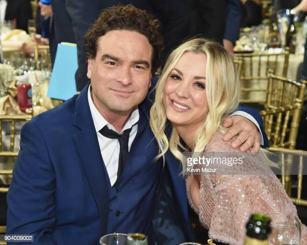 Actors Johnny Galecki and Kaley Cuoco attend The 23rd Annual Critics' Choice Awards at Barker Hangar on January 11, 2018 in Santa Monica, California.