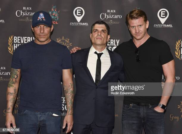Actors Johnny Messner George Zakk and Dash Mihok attend 'The Girl Who Invented Kissing' showing at the 17th annual Beverly Hills Film Festival...