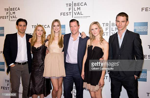 Actors Johnny Solo Marsha Dietlein Bennett Caitlin Fitzgerald director Edward Burns actors Kerry Bishe and Dara Coleman attend the premire of...