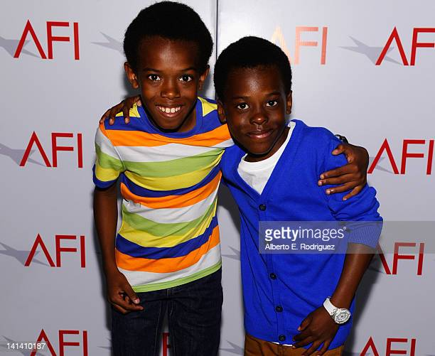 Actors Johntae Lipscomb and Joshua Lipscomb attend the AFI Conservatory's Thesis Showcase at Directors Guild Of America on March 15 2012 in Los...