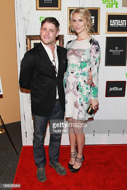 Actors Jon Abrahams and Mickey Sumner attend the Missed Connections screening during the 2012 GenArt Film Festival opening night at the School of...