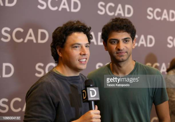Actors Jon Bass and Karan Soni attend the Miracle Workers press junket during SCAD aTVfest 2019 at SCADshow on February 7 2019 in Atlanta Georgia