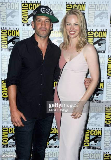 Actors Jon Bernthal and Deborah Ann Woll attend Netflix's 'The Defenders' panel during ComicCon International 2017 at San Diego Convention Center on...