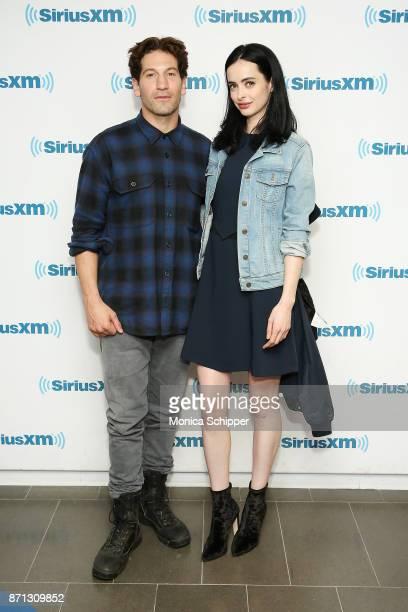 Actors Jon Bernthal and Krysten Ritter visit SiriusXM Studios on November 7 2017 in New York City
